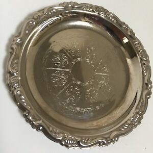 Silver Plated Coaster Made In Italy 4 Diameter A10