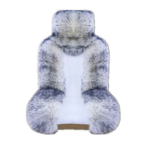 1pcs Wool Auto Front Seat Cover Car Interior Warm Plush Pad Universal White gray