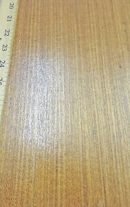 Teak brazilian Freijo Wood Veneer 48 X 108 With Paper Backing 1 40th Thick