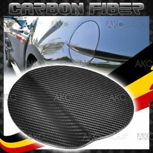 Glossy Real Carbon Fiber Gas Door Fuel Tank Cover Overlay For 15 17 Ford Mustang