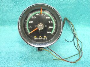 Vintage Ford Chevy Dodge Rac Electronics 0 9000 Rpm 3 1 2 Tachometer 1017