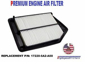 Engine Air Filter For 2013 2014 2015 2016 2017 Honda Accord 2 4l