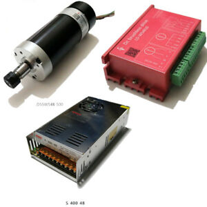 500w 48v12000r min Spindle Motor 400w Power Supply Brushless Motor Drive