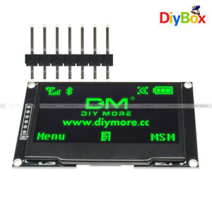 2 42 Inch Oled Lcd Display Ssd1309 128x64 Spi iic Serial Port Green For Arduino