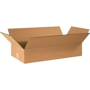 25 24 X 12 X 4 Corrugated Shipping Boxes Storage Cartons Moving Packing Box