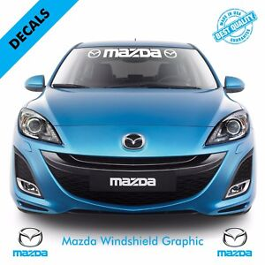 Mazda Logo Windshield Vinyl Decal Sticker Vehicle Graphics