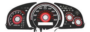 Type r Red 2003 07 Honda Accord Automatic Glow Gauges Face Overlay 160mph