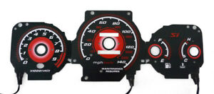 Type R Red Glow 1999 2000 Honda Civic Ek Si Gauges Face Overlay Jdm