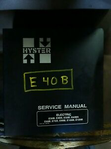 Hyster Electric Forklift Service Manual Eb Series