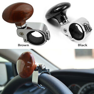 Brown Hickory Car Auto Steering Wheel Suicide Spinner Handle Knob Booster
