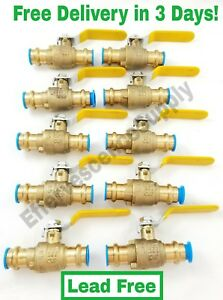 lot Of 10 1 2 Propress Brass Ball Valves Press Brass Ball Valve Lead Free