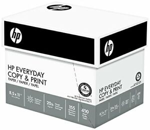 Hp Everyday Copy And Print Paper 8 1 2 X 11 Inch 20lb 92 Bright 2400 Sheets