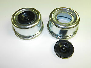 2 trailer Axle Dust Cap Cup Grease Cover Plug Rv Camper Utility 2 44 Large
