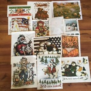 100 Heat Transfers For Commercial Use Fall Halloween Xmas Winter Lot 2