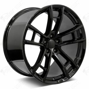 20 Daytona Style Staggered Rims Gloss Black Fits Dodge Magnum Charger Challenger