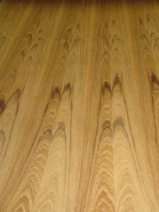 Teak African Wood Veneer 24 X 96 With Peel And Stick psa Adhesive 1 40th A