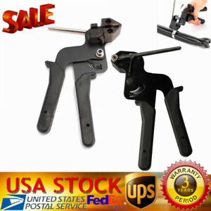 Stainless Steel Metal Cable Tie Fasten Gun Pliers Crimper Tensioner Cutting Usa