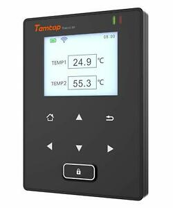 Temlog W1 Wifi Intelligent Double Temperature Sensors Data Logger Remote Monitor