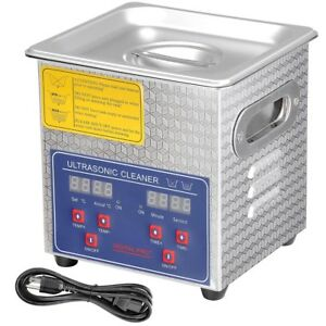 2l Stainless Steel Commercial Ultrasonic Cleaner W Timer Heater Jewelry Watch