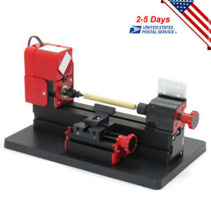 6 In 1 Mini Wood Metal Lathe Diy Jigsaw Milling Drilling Sanding Machine Durable
