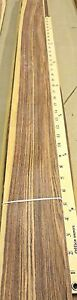 Rosewood kingwood Wood Veneer 3 X 58 Raw With No Backing 1 28th Thickness