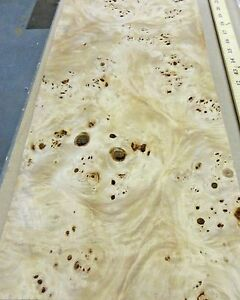 Mappa Burl Quilted Figured Wood Veneer 10 X 20 Raw No Backing 1 32 Thickness
