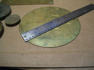 Lot 7 Pcs Brass Stock Pieces Of Sheets Disks Rounds 0038