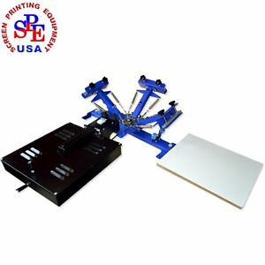 3color 1 Station With Dryer Screen Printing Press Equipment Printer Machine Silk