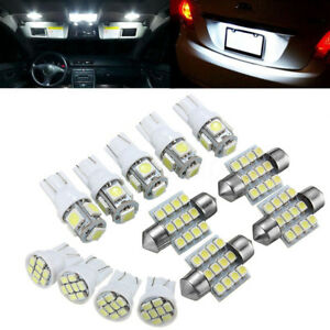 13pcs T10 Xenon White Smd Led Light Interior Package Kit For 2004 2012 Ford Bmw