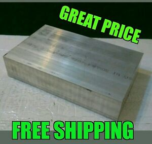 2x6x6 New 6061 Solid Aluminum Plate Flat Bar Stock Cnc Mill Shop Tool Machining