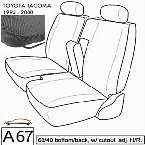 A67 Toyota Tacoma 60 40 Split Bench Charcoal Gray Exact Custom Fit Seat Cover