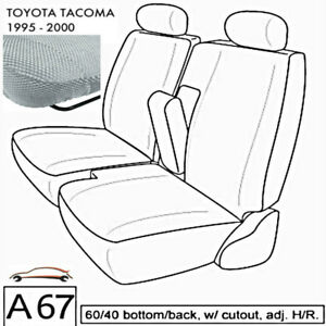 A67 Gr Toyota Tacoma Rcab Xcab Front 60 40 Split Bench Custom Exact Seat Covers