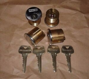 Sargent Mortise Cylinder La Keyway 1 1 8 6 Pin 26d 4 Cylinders W 4 Keys