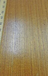 Teak Brazilian Freijo Wood Veneer 24 X 108 With Paper Backing 1 40th Thick
