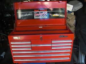 Mac Tools Limited Edition Tool Box 1988 Johnny Rutherford Indy 500 Winner Extras