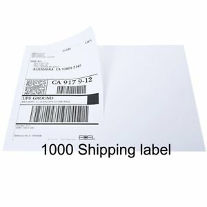 1000 Labels 8 5x5 5 Half Sheet Self Adhesive Shipping Label For Usps Ups Ebay