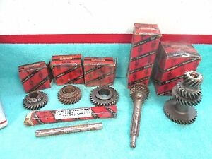1946 49 Nash Transmission Countershaft Cluster Gear Ect Parts Lot Nors 817