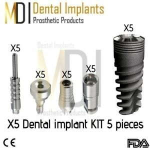 Special 5 Mdi Spiral Dental Implant Kit 5 Pieces Internal hexagon System