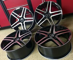 Mercedes 20 Inch Blk S65 Rims Wheels Set4 New Exclusive S400 S550 Fitment Amg