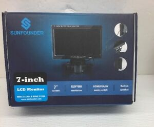 Sunfounder 7 Hd 1024x600 Tft Lcd Screen Display Av vga hdmi Monitor Builtin t