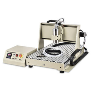 Usb 4 Axis Cnc 6040z Router Engraver Engraving Machine Woodwork Cutting Milling
