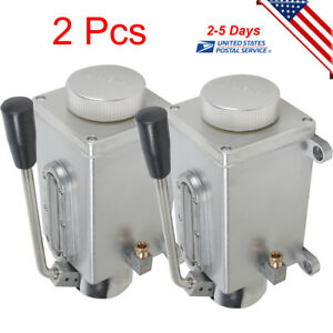 2x Lubricating Manual Pump Hand Lubrication Oil Pump High Practicality Us Stock