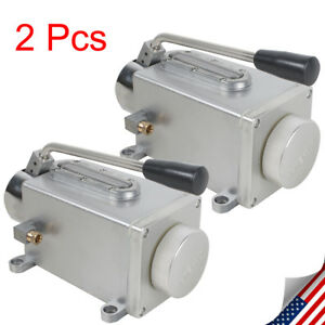 2pcs Lubricating Manual Pump Hand Lubrication Oil Pump Hand Operate Machine Usa