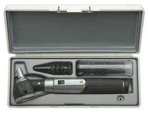 Otoscope Set Heine Mini 3000 F o With Battery Handle In Hard Case