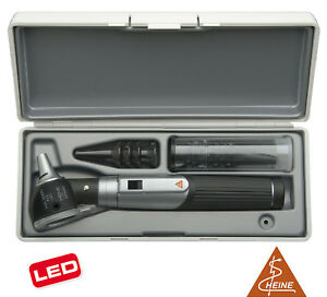 Otoscope Set Heine Mini 3000 Led F o With Battery Handle In Hard Case