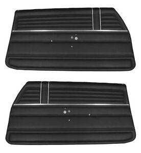 1968 Chevelle Coupe Door Panels Front Set In Black J 6300 In Stock