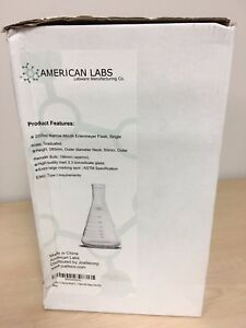 2000ml 2l Narrow Mouth Erlenmeyer Flask With Heavy Duty Rim By American Labs