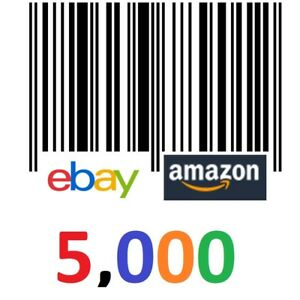 5 000 Real Upc Barcodes Upc Bar Code Numbers Number Ean Amazon Total 5000 Codes