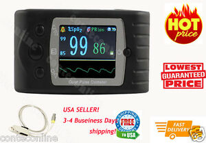 Tft Finger Pulse Oximeter Spo2 Monitor cms60c usb free Advanced Analysis Sw