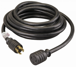 30 amp 40 foot Generator Power Cord For Generators Up To 7 500 Running Watts